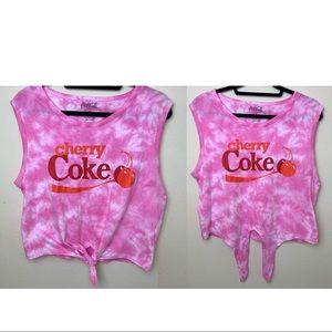 "NWOT COCA COLA ""Cherry Coke"" front tie tank"